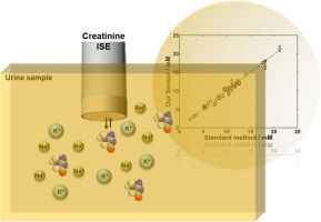 Ion-selective electrode for the potentiometric determination of creatinine in urine